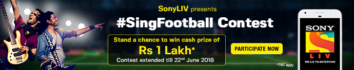 SonyLIV presents #SingForFootball Contest